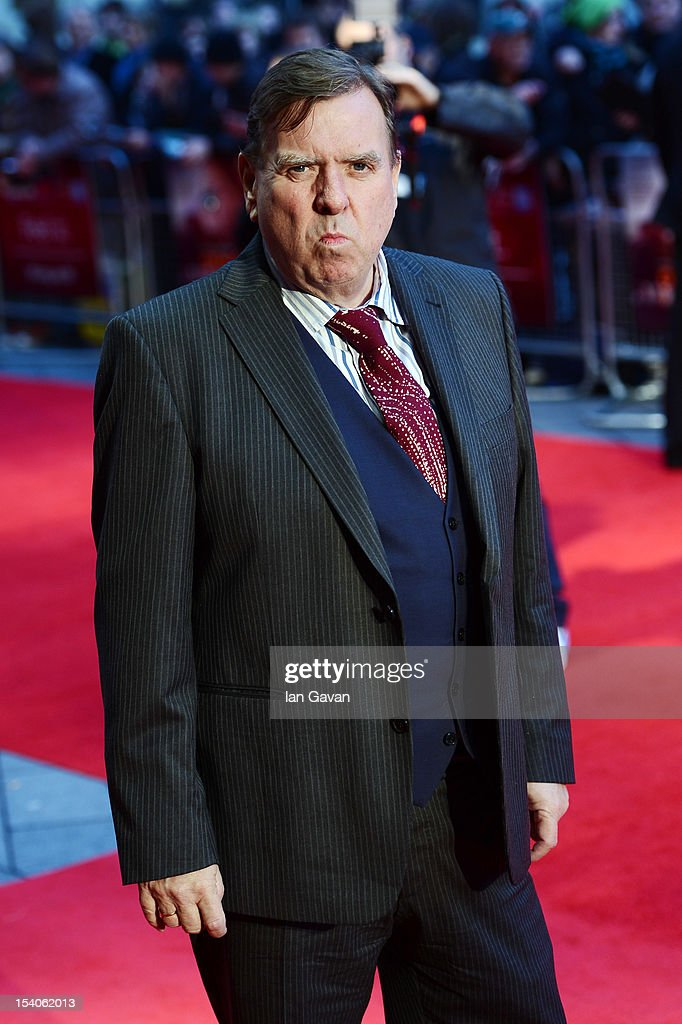Actor <a gi-track='captionPersonalityLinkClicked' href=/galleries/search?phrase=Timothy+Spall&family=editorial&specificpeople=235948 ng-click='$event.stopPropagation()'>Timothy Spall</a> attends the premiere of 'Ginger and Rosa' during the 56th BFI London Film Festival at Odeon West End on October 13, 2012 in London, England.