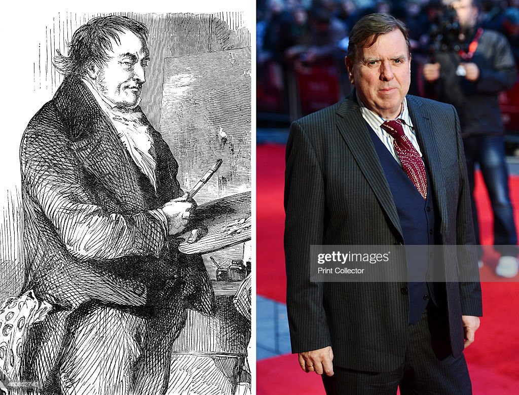 In this composite image a comparison has been made between J.M.W. Turner (L) and actor Timothy Spall. Actor Timothy Spall will reportedly play painter J.M.W. Turner in a film biopic 'Mr. Turner' directed by Mike Leigh. LONDON, ENGLAND - OCTOBER 13: Actor Timothy Spall attends the premiere of 'Ginger and Rosa' during the 56th BFI London Film Festival at Odeon West End on October 13, 2012 in London, England.