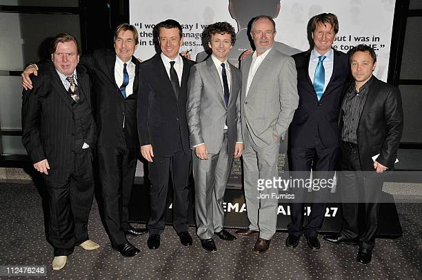Actor Timothy Spall producer Andy Harries writer and executive producer Peter Morgan actors Michael Sheen Jim Broadbent director Tom Hooper and actor...