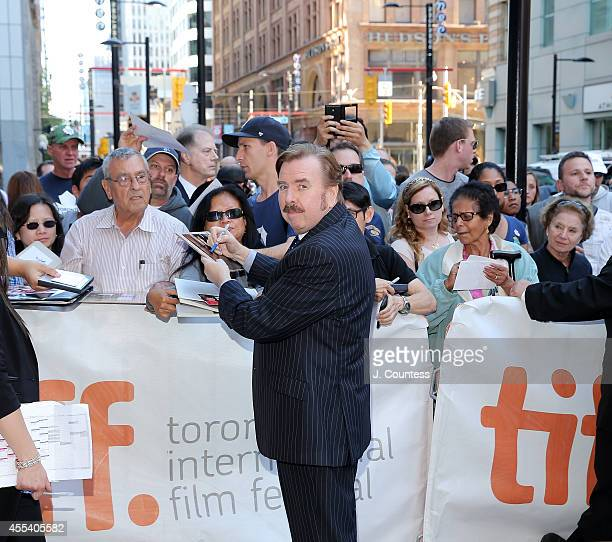 Actor Timothy Spall signs autographs during the 'Mr Turner' Premiere during 2014 Toronto International Film Festival at The Elgin on September 8 2014...