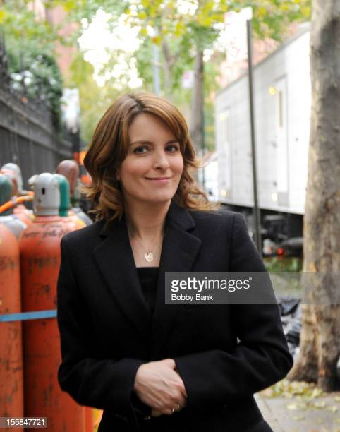 Actor Tina Fey on location for '30 Rock' at Streets of Manhattan on November 8 2012 in New York City