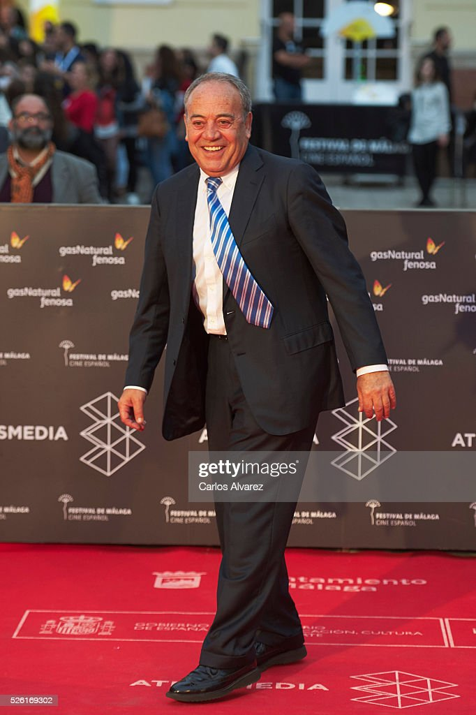 Actor Tito Valverde attends 'Koblic' premiere at the Cervantes Teather during the 19th Malaga Film Festival on April 29, 2016 in Malaga, Spain.