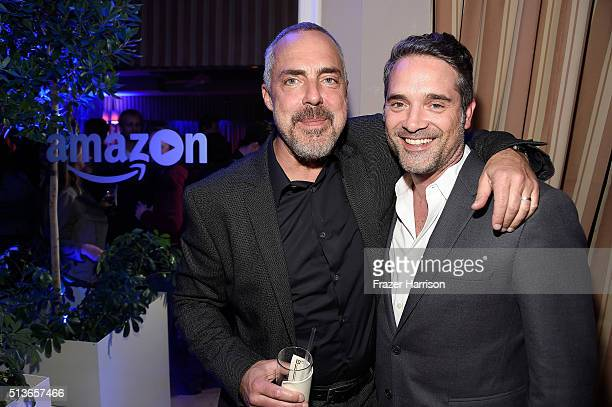 Actor Titus Welliver and producer Morgan Wandell attend 'Bosch' Season 2 after party at The Sunset Tower Hotel on March 3 2016 in West Hollywood...