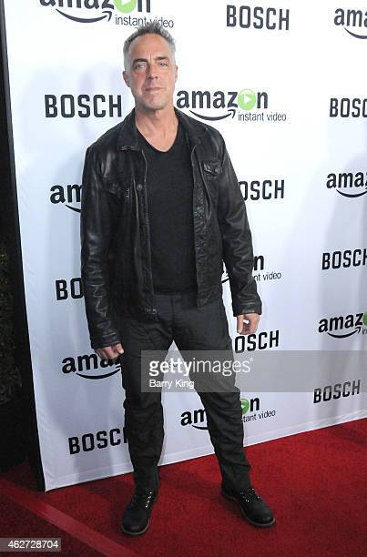 Actor Titus Welliver arrives at screening of Amazon's 1st Original Drama Series 'Bosch' at The Dome at Arclight Hollywood on February 3 2015 in...