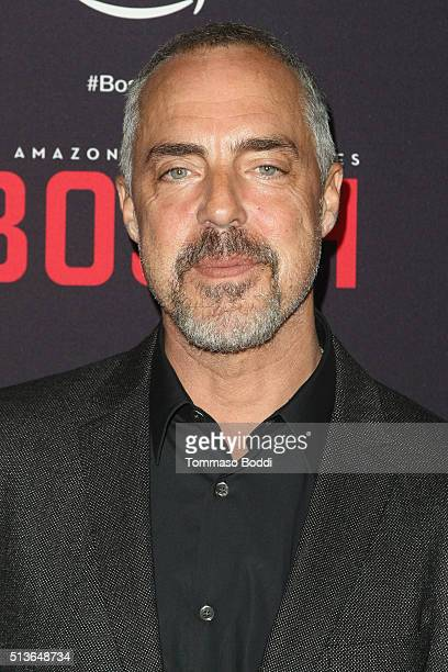 Actor Titus Welliver attends the Premiere Of Amazon's 'Bosch' Season 2 held at the SilverScreen Theater at the Pacific Design Center on March 3 2016...