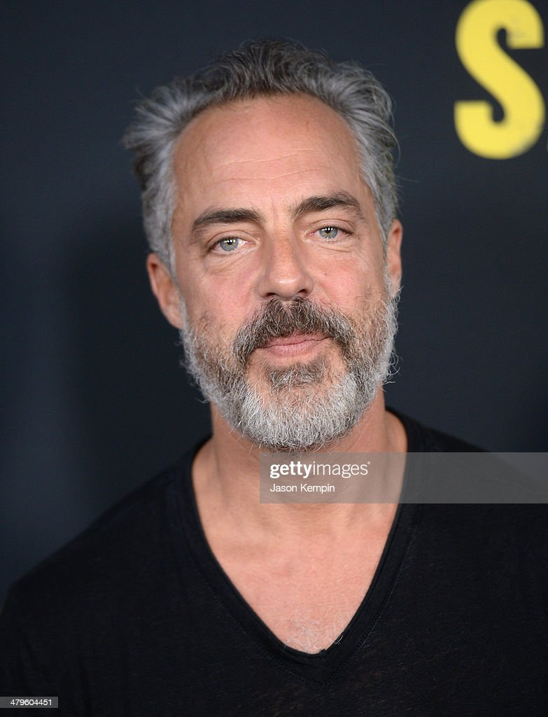Actor <a gi-track='captionPersonalityLinkClicked' href=/galleries/search?phrase=Titus+Welliver&family=editorial&specificpeople=2544284 ng-click='$event.stopPropagation()'>Titus Welliver</a> attends the premiere of Open Road Films' 'Sabotage' at Regal Cinemas L.A. Live on March 19, 2014 in Los Angeles, California.