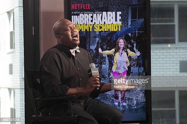 Actor Tituss Burgess discusses the Netflix show 'The Unbreakable Kimmy Schmidt' at AOL Studios In New York on August 24 2015 in New York City