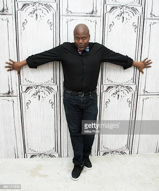 Actor Tituss Burgess discusses 'The Unbreakable Kimmy Schmidt' at AOL Studios in New York on August 24 2015 in New York City