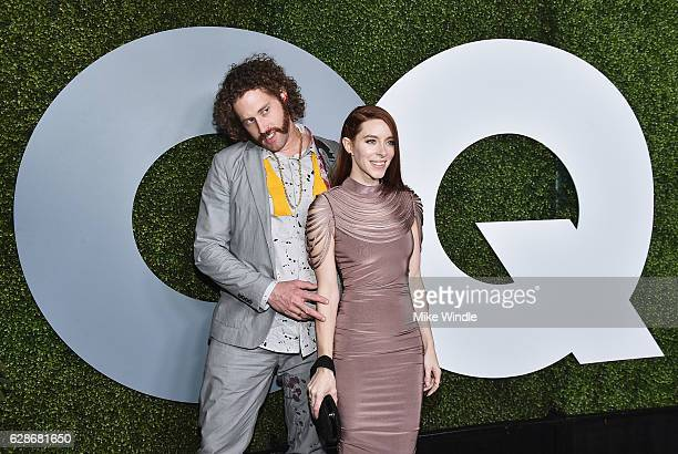 Actor TJ Miller and Kate Gorney attend the 2016 GQ Men of the Year Party at Chateau Marmont on December 8 2016 in Los Angeles California