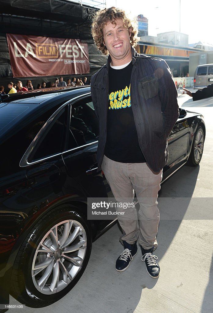Actor <a gi-track='captionPersonalityLinkClicked' href=/galleries/search?phrase=T.J.+Miller&family=editorial&specificpeople=4430777 ng-click='$event.stopPropagation()'>T.J. Miller</a> arrives at Focus Features' Premiere of 'Seeking A Friend For The End Of The World' at LA Live on June 18, 2012 in Los Angeles, California.