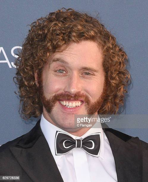 Actor TJ Miller arrives at The 22nd Annual Critics' Choice Awards at Barker Hangar on December 11 2016 in Santa Monica California