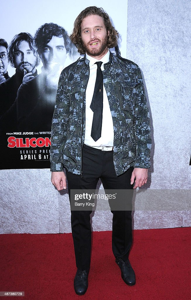 Actor T.J. Miller arrives at the premiere of 'Silicon Valley' on April 3, 2014 at Paramount Studios in Hollywood, California.