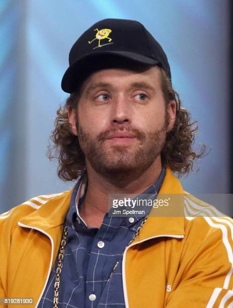 Actor TJ Miller attends Build to discuss their new movie 'The Emoji Movie' at Build Studio on July 19 2017 in New York City