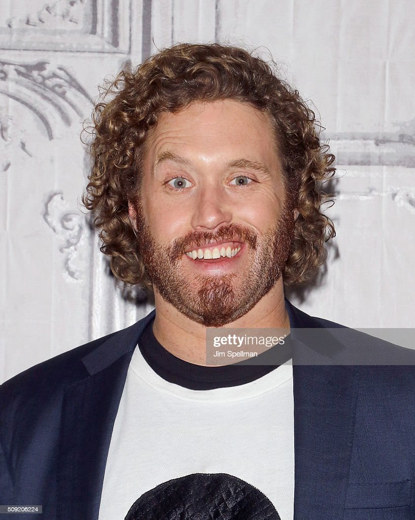Actor TJ Miller attends the AOL Build Speaker Series - Ryan Reynolds, TJ Miller, Ed Skrein and Morena Baccarin, 'Deadpool' at AOL Studios In New York on February 9, 2016 in New York City.