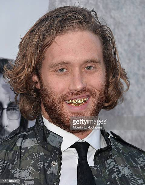 Actor TJ Miller attends the Premiere of HBO's 'Silicon Valley' at Paramount Studios on April 3 2014 in Hollywood California