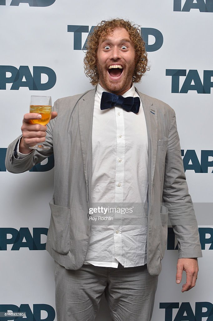 Actor T.J. Miller speaks on the Unify Tech'16: Tapad's version of Bachmanity panel at Nasdaq MarketSite during 2016 Advertising Week New York on September 28, 2016 in New York City.