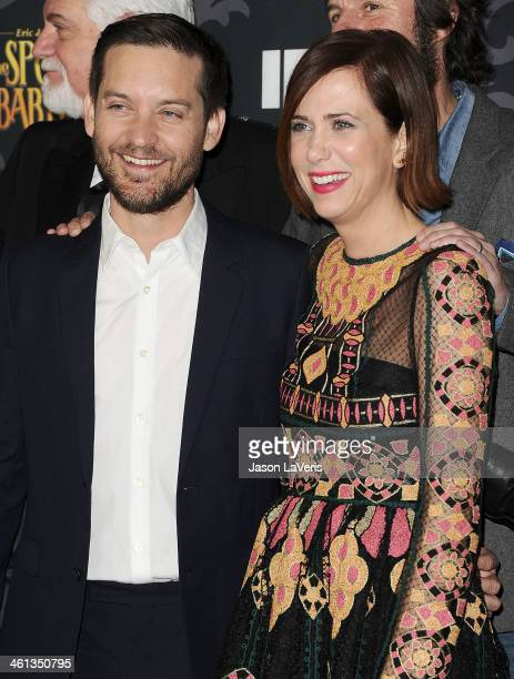 Actor Tobey Maguire and actress Kristen Wiig attend the premiere of IFC's 'The Spoils Of Babylon' at DGA Theater on January 7 2014 in Los Angeles...