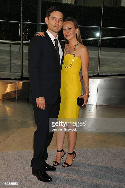 Actor Tobey Maguire and designer Jennifer Meyer attend 2013 CFDA FASHION AWARDS underwritten by Swarovski at Lincoln Center on June 3 2013 in New...