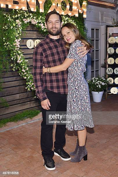 Actor Tobey Maguire and designer Jennifer Meyer attend Barneys New York Jennifer Aniston and Tobey Maguire host a private dinner to celebrate The...