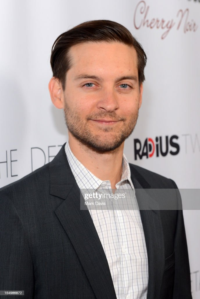 Actor Tobey Maguire arrives at the premiere of RADiUS-TWC's 'The Details' held at ArcLight Cinemas on October 29, 2012 in Hollywood, California.