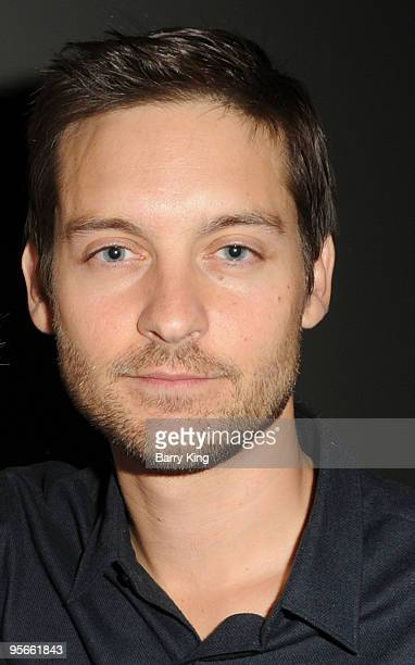 Actor Tobey Maguire attends American Cinematheque QA held at the Aero Theatre on January 8 2010 in Santa Monica California