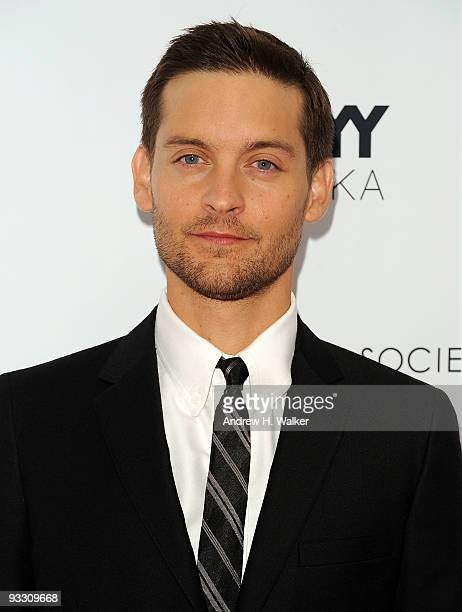 Actor Tobey Maguire attends The Cinema Society Details and DKNY screening of 'Brothers' at the SVA Theater on November 22 2009 in New York City