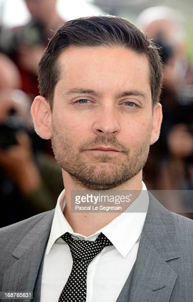 Actor Tobey Maguire attends 'The Great Gatsby' photocall during the 66th Annual Cannes Film Festival at the Palais des Festivals on May 15 2013 in...