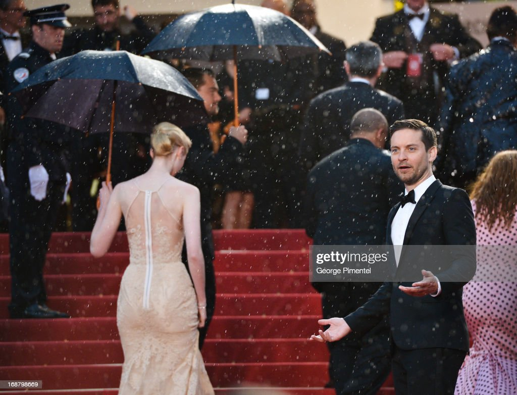 Actor Tobey Maguire attends the Opening Ceremony and Premiere of 'The Great Gatsby' at The 66th Annual Cannes Film Festival at Palais des Festivals on May 15, 2013 in Cannes, France.
