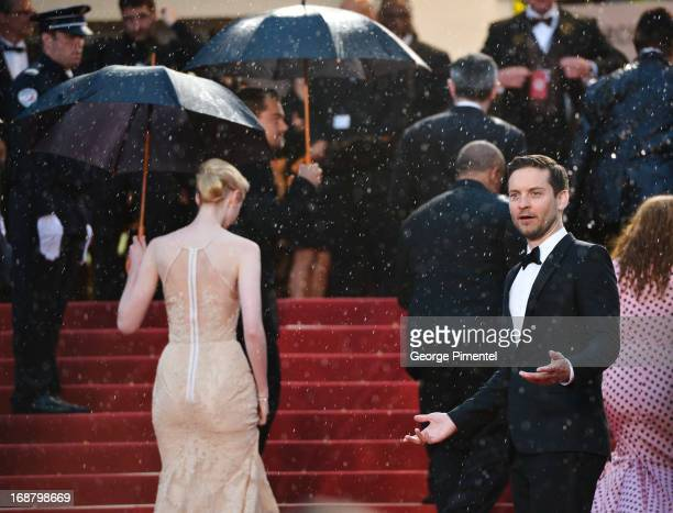 Actor Tobey Maguire attends the Opening Ceremony and Premiere of 'The Great Gatsby' at The 66th Annual Cannes Film Festival at Palais des Festivals...