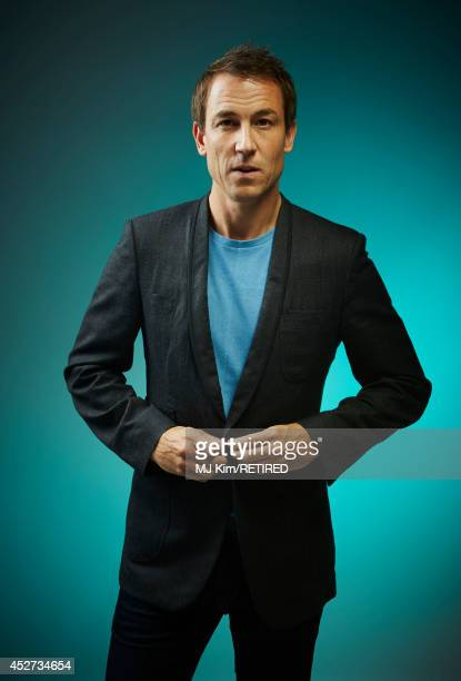 Actor Tobias Menzies poses for a portrait at the Getty Images Portrait Studio powered by Samsung Galaxy at ComicCon International 2014 at Hard Rock...