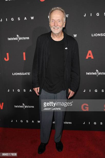 Actor Tobin Bell attends the premiere of 'Jigsaw' at ArcLight Hollywood on October 25 2017 in Hollywood California