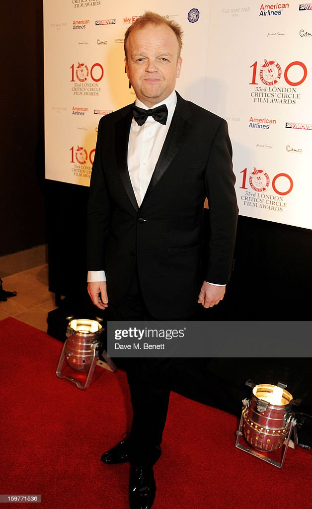 Actor Toby Jones arrives at the London Critics Circle Film Awards at the May Fair Hotel on January 20, 2013 in London, England.