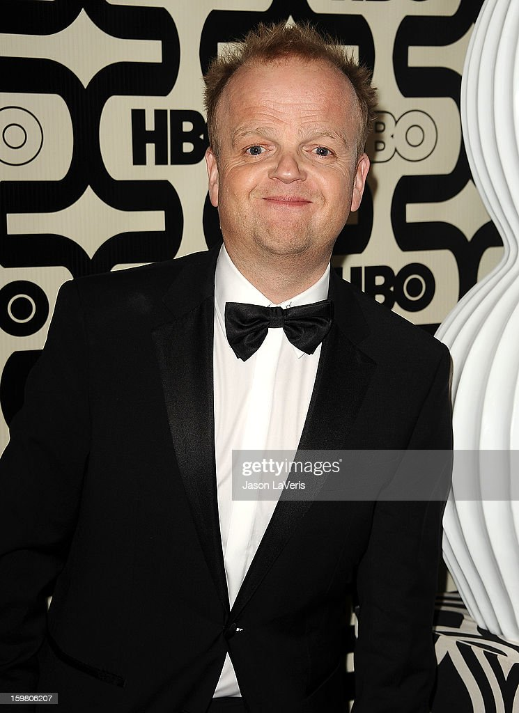 Actor Toby Jones attends the HBO after party at the 70th annual Golden Globe Awards at Circa 55 restaurant at the Beverly Hilton Hotel on January 13, 2013 in Los Angeles, California.