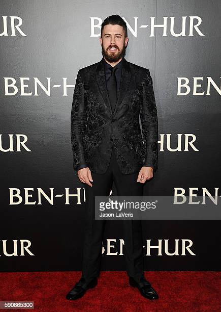 Actor Toby Kebbell attends the premiere of 'BenHur' at TCL Chinese Theatre IMAX on August 16 2016 in Hollywood California