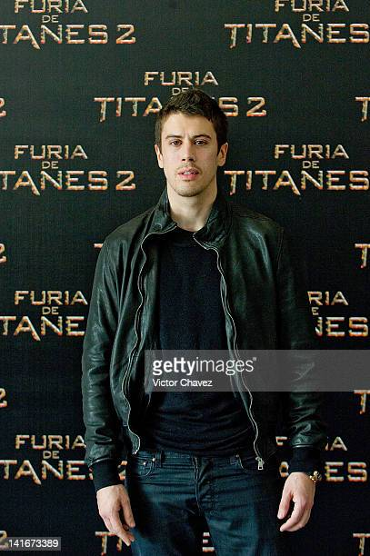 Actor Toby Kebbell attends the 'Wrath of the Titans ' Mexico City photocall at the St Regis Hotel on March 19 2012 in Mexico City Mexico