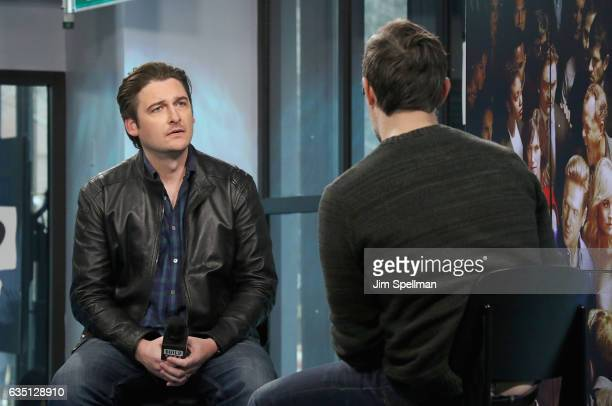 Actor Toby Leonard Moore and writer Ricky Camilleri attend the Build series to discuss Season 2 of 'Billions'at Build Studio on February 13 2017 in...