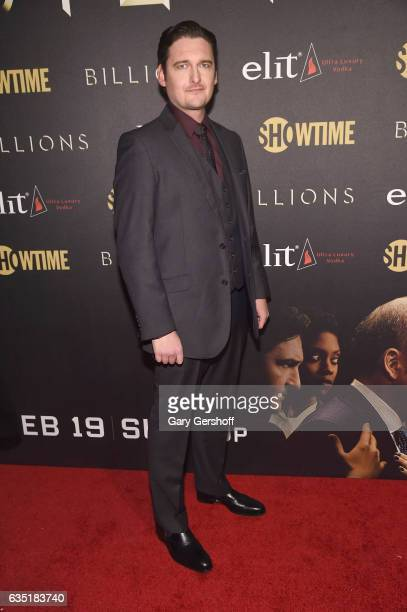 Actor Toby Leonard Moore attends the 'Billions' Season 2 premiere at Cipriani 25 Broadway on February 13 2017 in New York City