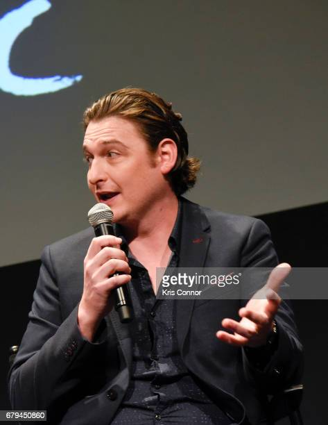 Actor Toby Leonard Moore speaks during the SHOWTIMEpresented screening panel discussion and reception for episode 211 of the hit series BILLIONS held...