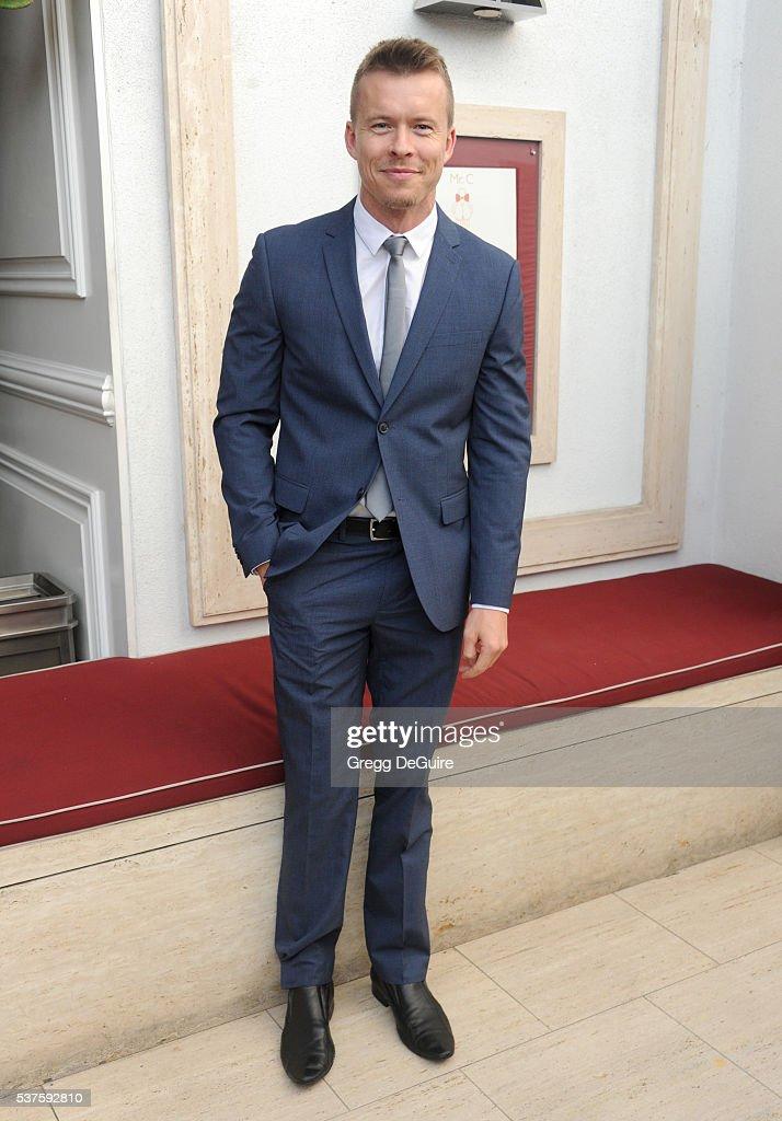 Actor Todd Lasance arrives at Australians In Film Heath Ledger Scholarship Dinner on June 1 2016 in Beverly Hills California