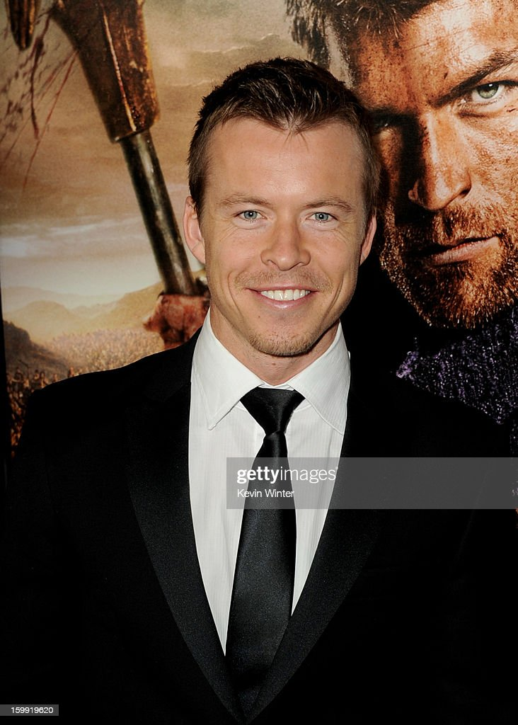 Actor Todd Lasance arrives at the premiere of Starz's 'Spartacus: War Of The Damned' at the Regal Cinemas L.A. Live on January 22, 2013 in Los Angeles, California.