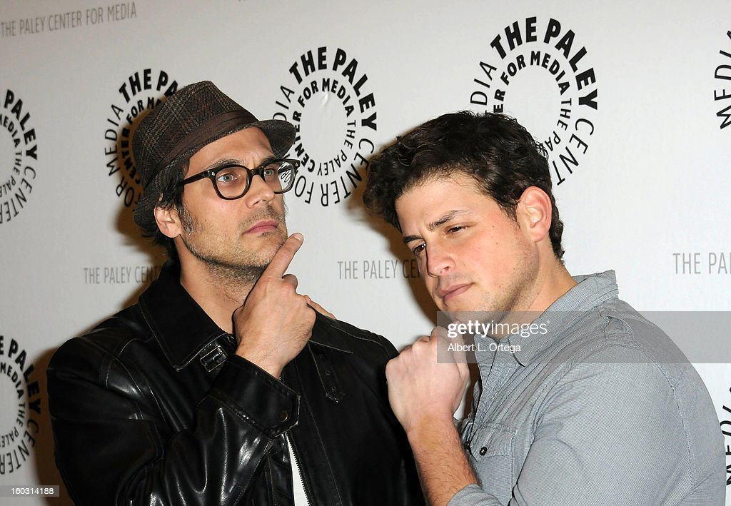 Actor Todd Stashwick and actor David Blue arrive for The Paley Center for Media & Warner Bros. Home Entertainment Premiere of 'Batman: The Dark Knight Returns, Part 2' held at The Paley Center for Media on January 28, 2013 in Beverly Hills, California.