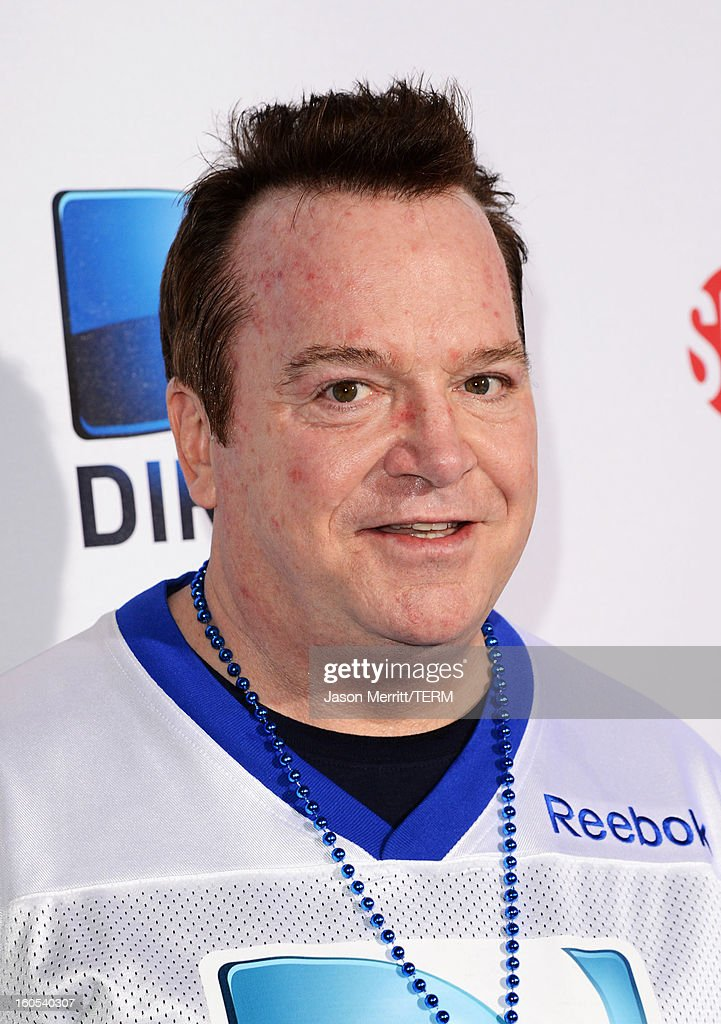 Actor <a gi-track='captionPersonalityLinkClicked' href=/galleries/search?phrase=Tom+Arnold&family=editorial&specificpeople=202506 ng-click='$event.stopPropagation()'>Tom Arnold</a> attends DIRECTV'S Seventh Annual Celebrity Beach Bowl at DTV SuperFan Stadium at Mardi Gras World on February 2, 2013 in New Orleans, Louisiana.