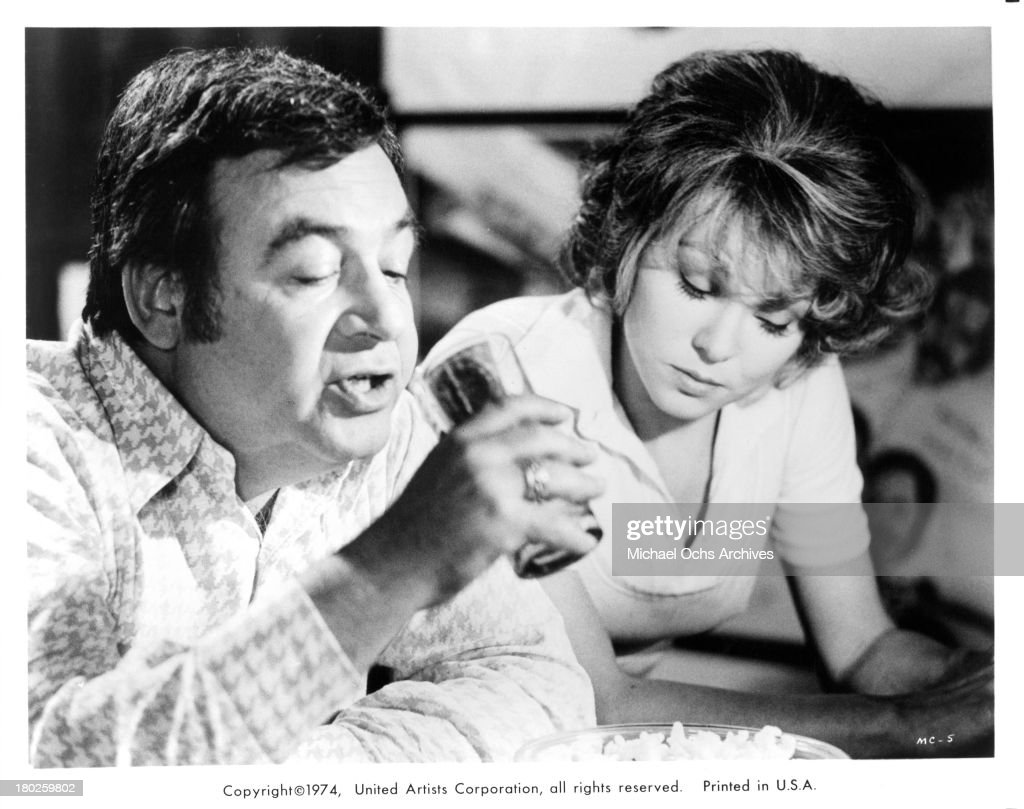 Actor Tom Bosley and actress Barbara Harrison set of the United Artist movie 'Mixed Company' in 1974