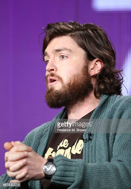 Actor Tom Burke speaks onstage during the 'The Musketeers ' panel discussion at the BBC America portion of the 2014 Winter Television Critics...