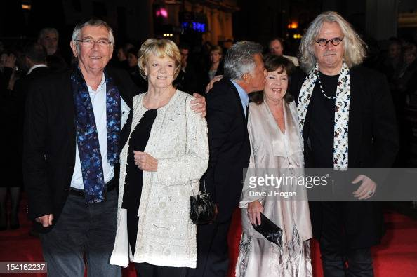 Actor Tom Courtenay actress Dame Maggie Smith Director Dustin Hoffman actress Pauline Collins and comedian Billy Connolly attend the premiere of...