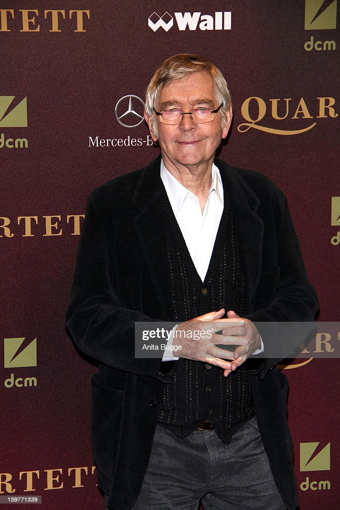 Actor <a gi-track='captionPersonalityLinkClicked' href=/galleries/search?phrase=Tom+Courtenay&family=editorial&specificpeople=699230 ng-click='$event.stopPropagation()'>Tom Courtenay</a> attends the 'Quartet' Berlin Photocall at Deutsche Oper on January 20, 2013 in Berlin, Germany.