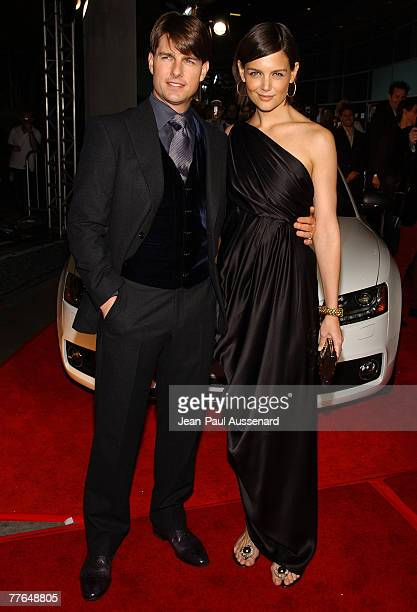 Actor Tom Cruise and Actress Katie Holmes arrive at the AFI Fest opening night gala presentation of 'Lions For Lambs' held at the Cinerama Dome on...