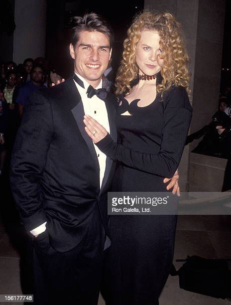 Actor Tom Cruise and actress Nicole Kidman attend the 49th Annual Golden Globe Awards on January 18 1992 at Beverly Hilton Hotel in Beverly Hills...