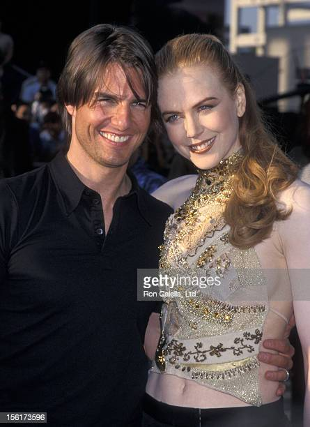 Actor Tom Cruise and actress Nicole Kidman attend the 'Mission Impossible II' Hollywood Premiere on May 18 2000 at Mann's Chinese Theatre in...