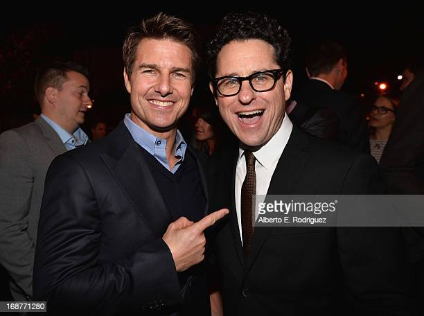 Actor Tom Cruise and director JJ Abrams attend the after party for the premiere of Paramount Pictures' 'Star Trek Into Darkness' at AV Nightclub on...